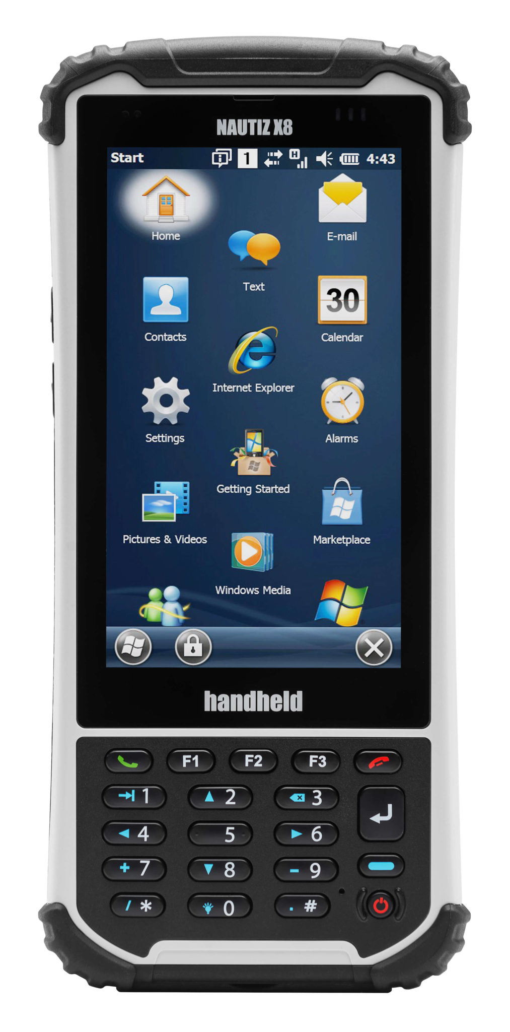 nautiz-x8-handheld-rugged-front-screen